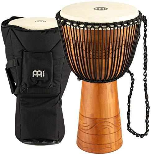 Meinl Percussion ADJ2-XL+BAG - Djembe, collezione Water Rhythm, misura media (33'/83,82 cm), custodia inclusa, colore: Marrone