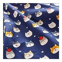JZGS ブルーのコットン生地は、スペース寝具縫製生地を印刷します (Color : 10, Size : 50x40cm)