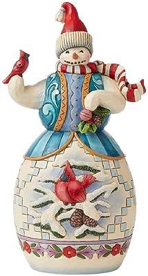 Enesco Jim Shore Heartwood Creek Snowman with Cardinal Figurine