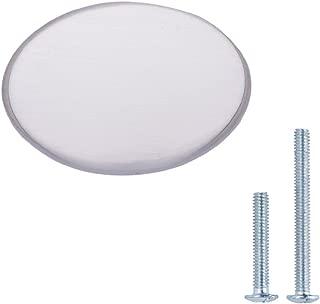 "AmazonBasics Flat Round Cabinet Knob, 1.44"" Diameter, Satin Nickel, 10-Pack"