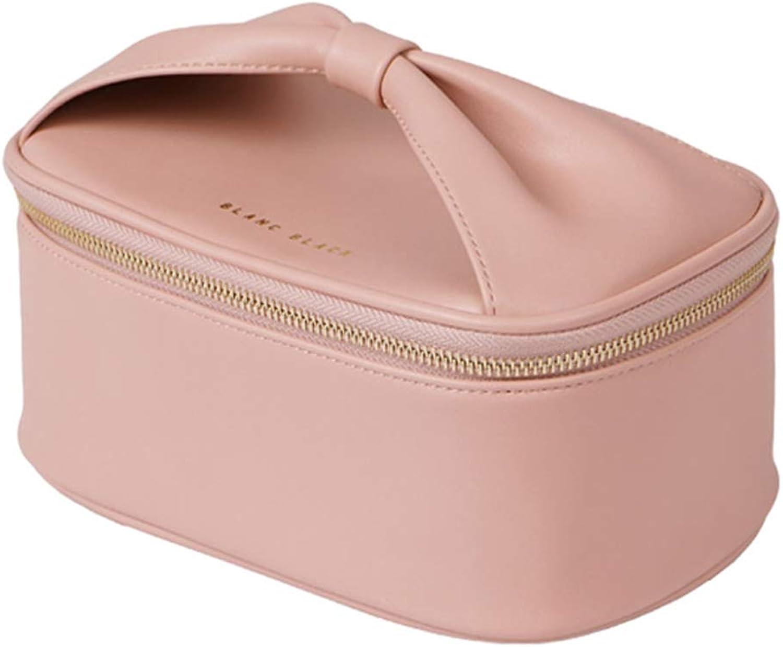 Reise Make Up Tasche Handtasche Aufbewahrungstasche Einfacher Tragbarer Kosmetik Organizer Mit GroßEr KapazitäT Rosa B07PVY5X96