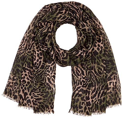 ONLY Damen ONLWILD LIFE CAMO WEAVED SCARF Pashmina-Schal, Martini Olive, ONE SIZE