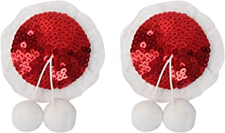BESTOYARD Christmas Pasties Nipple Cover Adhesive Silicone Breast Petals Covers with pom pom (red)