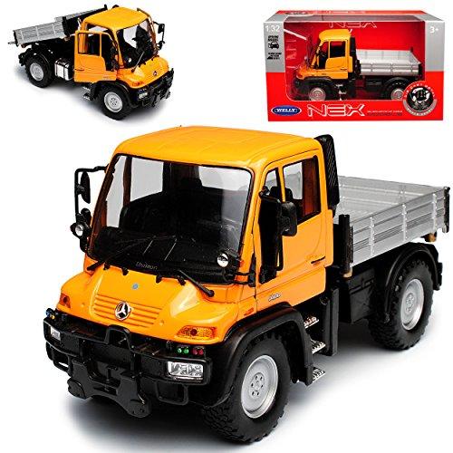 Welly Mercedes-Benz Unimog U400 Orange LKW Truck 1/32 Modell Auto mit individiuellem Wunschkennzeichen