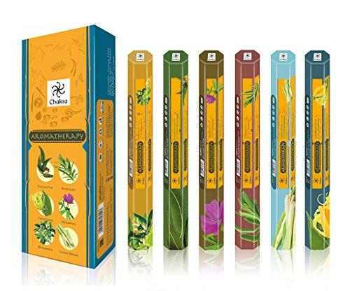 Chakra Aromaterapia Fragancia Natural los Palos perfumados - Promueve la Salud y el ser-20 Incienso por Caja - de Larga duración 120 Palos de fragancias - Pack de 6