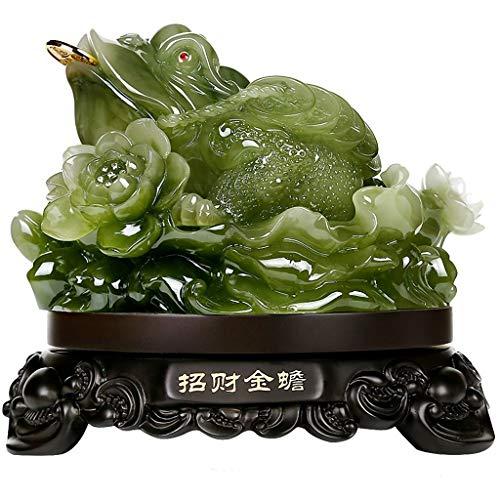 Estatua de Buda Dinero de Feng Shui de la rana (Dinero sapo) Estatua Feng Shui Decoración atraer la riqueza y de los regalos de la buena suerte la decoración del hogar del arte Decoración de meditació