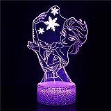 3D Frozen Elsa Night Light Kids Decoración del dormitorio como...