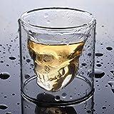BWM Crystal Skull Beaker Set Whisky Glass Bottle Glass Water Device Home Bar Vodka, 6 Tazas