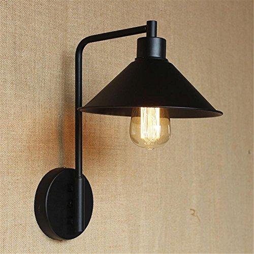 NIHE personnalité créative européenne rétro minimaliste chambre industrielle en fer forgé lampe lampe de chevet mur nostalgique ampoule Edison