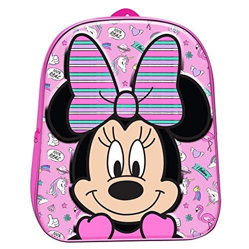 Official 3D Minnie Mouse Backpack Rucksack Luggage Sport Kids School Travel Bag