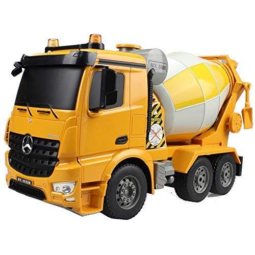 RC Tecnic Afstandsbediening Truck Betonmixer Mercedes Benz Arocs 1:20 2.4Ghz | Realistische lichten en geluiden, radiografisch bestuurbare RC auto met batterij | Constructiespeelgoed Radiobesturing voor kinderen, geel