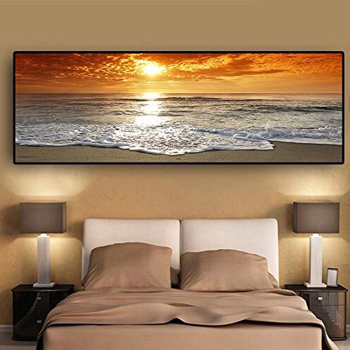 kldfig volledige ronde diamant borduurwerk verkoop 5D DIY diamant schilderij zonsondergangen natuurlijke zee strand landschap patroon decoratie 30 * 70cm unframed