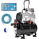 VIVOHOME 110-120V Professional Airbrushing Paint System with 1/5 HP Air Compressor and 1