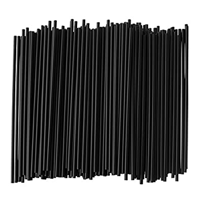 Disposable Plastic Stirrer Straw, for Coffee and Cocktails, 5 1/2 Inches Long, Black (950 Stirrers)