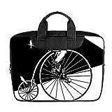 DongMen Benutzerdefinierte 13.4 Zoll Importiert Nylon Wasserdicht Stoff Laptop Tragbare Schulter Messenger Bag Diy Penny-Farthing Fahrrad Design