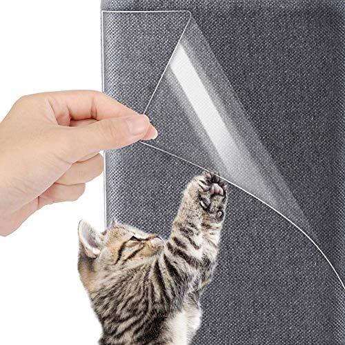 Couch Kratzschutz Katze, Kratzschutz for Katze Hund Kratzschutz Couch Möbelschutz transparent mit Stiften, zum Schutz von Polstermöbeln, Sofas, Teppichen und Türen, 8 STK. (47x15cm, 45x30cm)