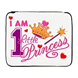 17 Inch Laptop Sleeve I Am One Little Princess Crown