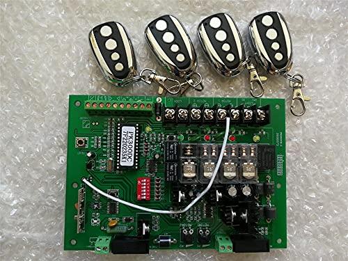 Apertura automática de puertas 2 4VDC Placa base de la unidad de control del abridor de la puerta de giro TARJETA DE CIRCUITO IMPRESO Tarjeta de placa de circuito del controlador de motor for solar 2