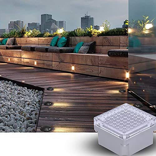 SALALIS Luz Solar de Suelo, PC + Aluminio Fundido IP68 Carga Solar Impermeable Uso prolongado Luz Solar de Paisaje Control de luz para Parques para Patios