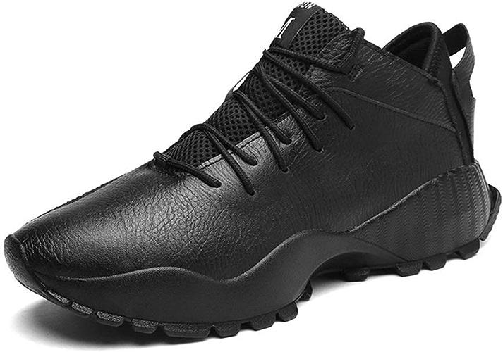 JINHAIXUE Chaussures à Semelles compensées pour Hommes, Chaussures de Tennis de Haute qualité