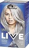 Schwarzkopf Live Intense Colour Hair Dye, Permanent Colour & Built-In Vibrancy Serum – 3x U71 Metallic...