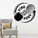 UYEDSR Stickers Muraux Sport Stickers Muraux Jeux De Tennis De Table Ping-Pong Raquette De Sport Vinyle Sticker Mural Décoration De La Maison Salle d'exercice Chambre Ado 46x42cm