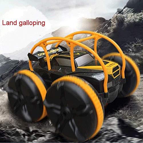 AIOJY Fernbedienung Auto Spielzeug Aufladewiderstand gegen Sturzkollision Tumbling Stunt Car 360-Grad-Kipper-Fernbedienung, Amphibien-Fernbedienung Auto Kinder und Erwachsene 2,4 GHz RC Stunt Car Gelä