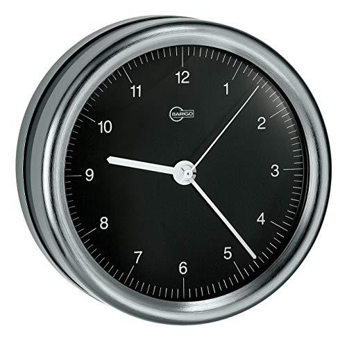 Barigo Orion Horloge Marine en acier inoxydable noir mat avec support marine 102mm