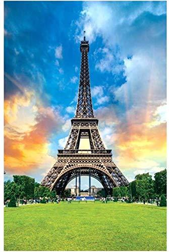 BANNAB 1000 Stück Puzzle für Erwachsene Eiffelturm Robuste Holzpuzzles Brain Exercise Challenge High Schwierigkeitsgrad Spielgeschenk für Kinder Kinder 52 * 38 cm