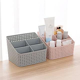 QUICK UNBOX 2 Pcs Multipurpose Bathroom Cosmetic Organisers Storage Box Makeup Holder Stand for Dressing Table, Home, and ...