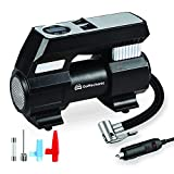 GoMechanic Gusto T4 Digital Car Tyre Inflator - 150 psi, 12V DC Portable Air Compressor with LED Light and Carry Bag