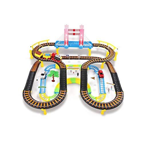LIUFS-Schienenfahrzeuge Kleine Zug-Spielzeug-Auto-elektrische Schienen-Auto-Kind-Jungen-Geburtstags-Geschenk-Elektro-Auto-Creative-frei Mit Light Music 3-6 Jahren Alten Spielzeug Zu Kämpfen