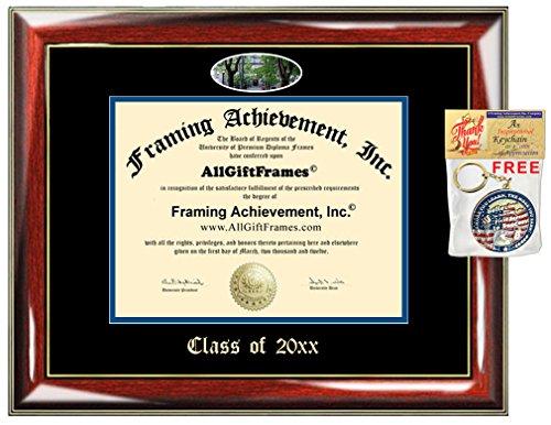 AllGiftFrames Custom Diploma Frame Embossed WWU College Best Graduation Degree Western Washington University Frame Double Campus Fisheye Picture Frame Cheap Graduate Gift