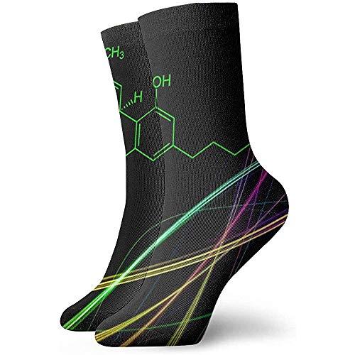 hdyefe THC Bunte Unisex Casual Socken Lustige Crew Socken Rutschfeste Crazy Socken Dress Socks 30CM