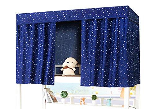 Studenten slaapzaal stapelbed tent gordijn lichtdichte stofdichte doek luifel verspreiding verduisterende gordijnen muggenbescherming scherm net 1.2 * 2m(3 piece) pattern2