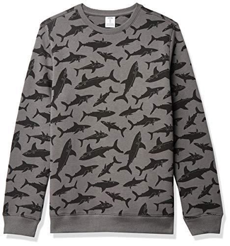 Amazon Essentials Crew Neck Sweatshirt, Grey Shark, 4T