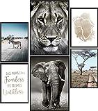 Papierschmiede® Mood-Poster Set Afrika | 6 Bilder als