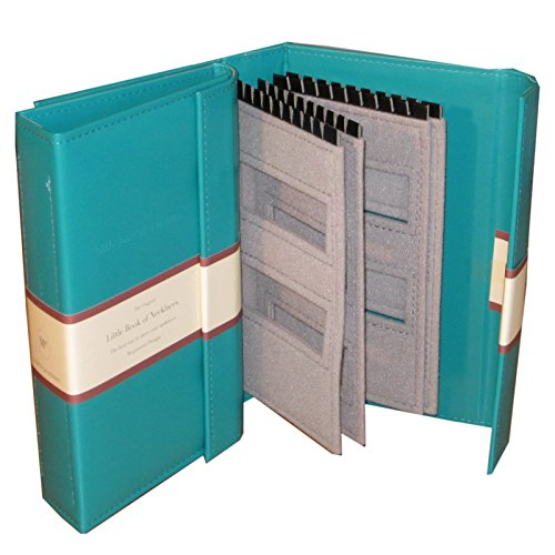 The Little Book of Necklaces - Teal necklace book holds 20 necklaces on 4 pages