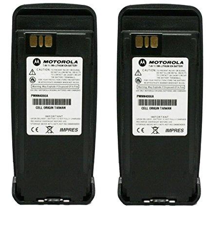 PMNN4066 PMNN4066A 2-PACK Original Motorola Submersible IP57 IMPRES Slim Battery Li-Ion 7.4V, 1700mAh - Compatible with MOTOTRBO XPR6100 XPR6300 XPR6350 XPR6500 XPR6550 XPR6380 XPR6580