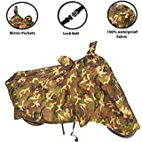 Shelter hub Enterprises-Suzuki Hayate EP- 100% Waterproof | Sun Protection | Dust Resistant | Double Stitches Bike / Scooty Body Cover (Green Military Print )