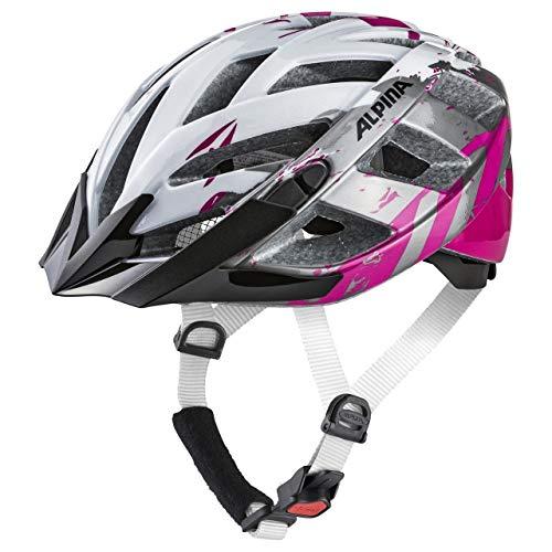 ALPINA PANOMA 2.0 Fahrradhelm, Unisex– Erwachsene, pearlwhite-magenta, 52-57