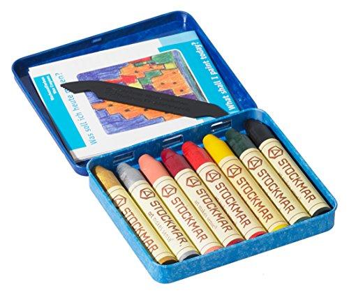 Stockmar Beeswax Stick Crayons 8 Supplementary Colors Tin