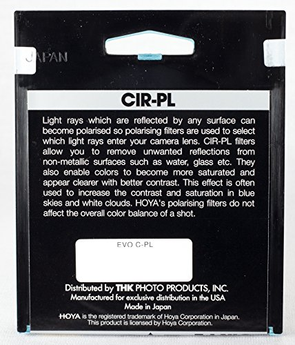 Hoya 62mm EVO SMC Circular Polarizer Super Multi-Coated Slim Frame Glass Filter