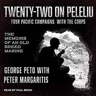 Twenty-Two on Peleliu audiobook cover art
