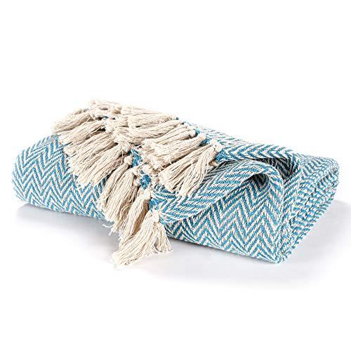 EHC Cotton Handwoven Reversible Single Sofa Throw Arm Stuhlbezug 125 x 150 cm - Teal