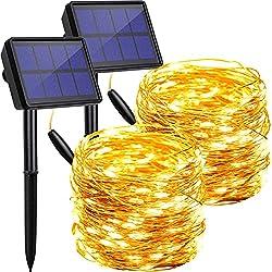 Image of Solar String Lights Outdoor...: Bestviewsreviews