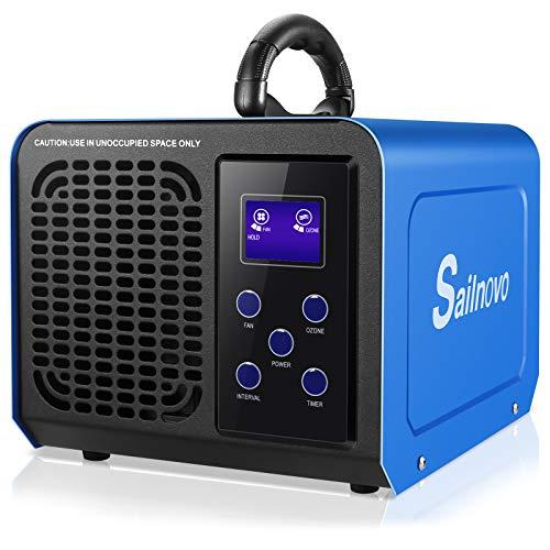 Generatore di Ozono 12000mg / H Purificatore d'aria con LCD, la Modalità Loop, Regolabili per Stanze di Qualsiasi Dimensione, Elimina Fumo/Odori/Formaldeide per Casa, Auto, Lavoro, Uso Agricolo