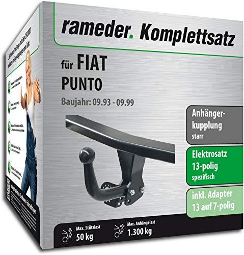 Rameder Komplettsatz, Anhängerkupplung starr + 13pol Elektrik für FIAT Punto (113566-00458-1)