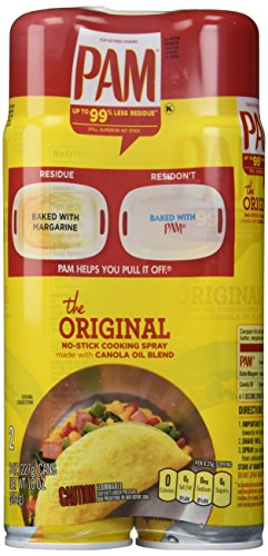 PAM No-Stick Cooking Spray Cans, 16 Ounce, 2 Pack