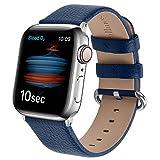 Fullmosa kompatibel mit Apple Watch Armband 44mm 42mm 40mm 38mm, Lederband Ersatzband für Damen...